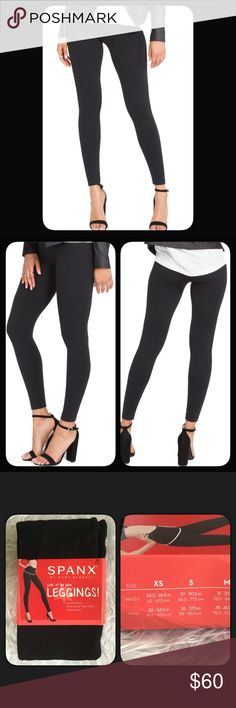 🆕SPANX Look at Me Now Leggings SPANX Look at Me Now Leggings. A stretchy knit and seamless design team for a flattering fit, an essential for leggings, topped with a figure smoothing waistband. Size Small, color: Very Black. NWT. Purchased from Nordstrom's. SPANX Pants Leggings