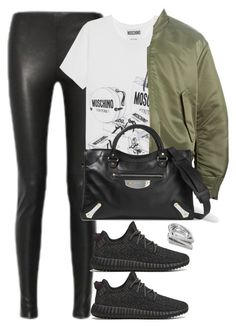 """""""Unbenannt #2068"""" by luckylynn-cdii ❤ liked on Polyvore featuring Balenciaga, Moschino, adidas Originals, Kendra Scott, women's clothing, women, female, woman, misses and juniors"""