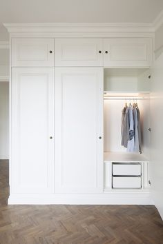 Bedroom closet design built in wardrobe dressing rooms 33 ideas Wardrobe Doors, Bedroom Wardrobe, Wardrobe Closet, Built In Wardrobe, Hanging Wardrobe, Wardrobe Drawers, White Wardrobe, Closet Wall, Entry Closet