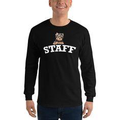 Yorkie Staff Long Sleeve T-Shirt - M – MyDogMyBubbles