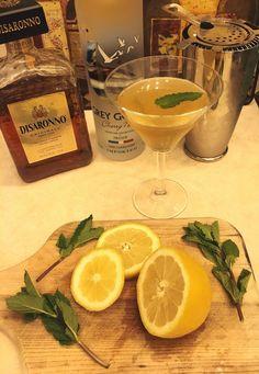 Midnight Millionaire Martini Grey goose cherry noir Disaronno  Lemon Mint