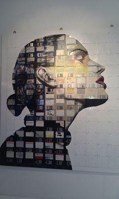 Julia at Studio 55, pinned by Ton van der Veer