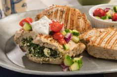 Impress your friends and family with these Greek style pork chops. Topped with homemade yogurt sauce and diced tomatoes and cucumbers, these chops can be on your dinner table in 30 minutes! Read More