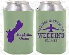 Guam Wedding Ideas, Coolies, Destination Favors, Guam Gifts, Guam Wedding, Hagatna Gifts, Can Koozies (179)