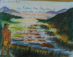 Waldorf ~ 5th grade ~ Geography ~ North America ~ Native American Prayer ~ main lesson book