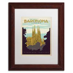 'Barcelona, Spain' by Anderson Design Group Framed Vintage Advertisement