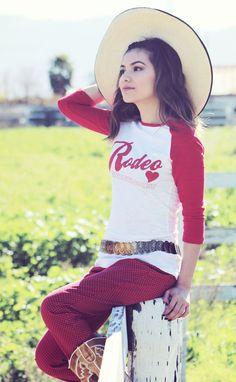 Original Cowgirl Clothing Rodeo Sweetheart Baseball Tee