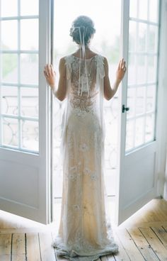 "Back view of Claire Pettibone's stunning ""Aphrodite"" wedding dress Bridal gowns / dresses. French Wedding, Boho Wedding, Dream Wedding, Mermaid Wedding, Wedding Blog, Ethereal Wedding, Gatsby Wedding, Wedding Ideas, Wedding Vintage"