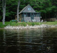 Cottage by a lake