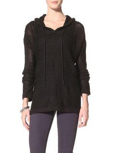 70% OFF Suss Knitwear Women's Shellie Lace Knit Hoodie (Black)