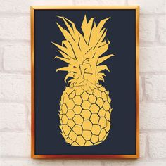 Gold Pineapple Print A4 And A3