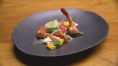 Thai Red Prawns with Coconut Lemongrass Panna Cotta