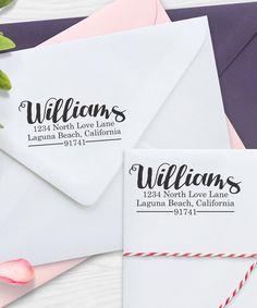 Etchey Whimsical Personalized Return Address Stamp | zulily