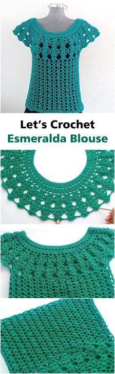 Step By Step To Crochet Esmeralda Blous