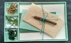 Gift Set - Letter/Writing Stationery Set/Handmade Mulberry Paper/X mas/Seaglass