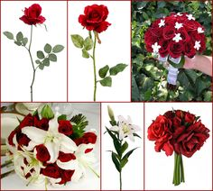#red wedding #afloral http://blog.afloral.com/inspiration-boards/malaithips-red-and-white-wedding-flower-inspiration-board/