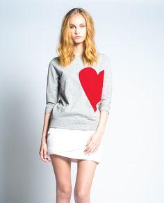 42a55d9750 Broken Hearted Sweatshirt in Grey Mix