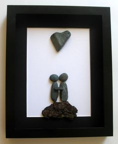 Unique Couples Gift and Personalized Art Work by SticksnStone, $60.00