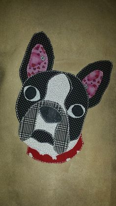 Patchwork Boston Terrier/ Frenchie French Bulldog 16x16 or 18x 18 Square Pillow Cover by BowWowPetWear on Etsy https://www.etsy.com/listing/223052613/patchwork-boston-terrier-frenchie-french
