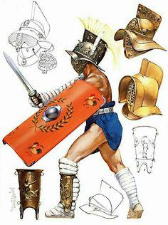 """- Gladiador tipo """" Murmillo """" o """" Murmillón """""""