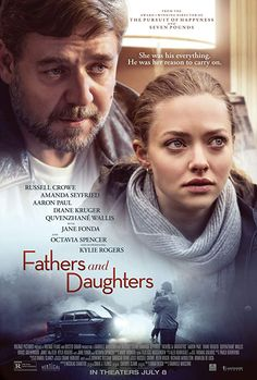 Fathers and Daughters Movie Poster - Russell Crowe, Amanda Seyfried, Aaron Paul Movie To Watch List, Good Movies To Watch, Movie List, Great Movies, Amanda Seyfried, Series Movies, Film Movie, Hindi Movie, Tv Series