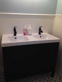 Etonnant Hemnes/Odensvik Double Sink With 2 Functional Drawers