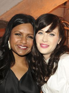 Mindy Kaling & Zooey Deschanel. Two girl crushes. In one picture.