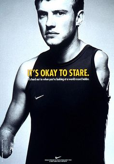 Nike advertising: It's okay to stare. It's hard not to when you're looking at a world record holder.