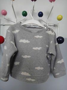 Adorable petit Pull sweat Appoline LUCIEN ZAZOU bonton gris nuage T.3 ans mixte