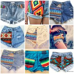 We ♥ the tribal denim shorts trend! Awesome for summer! Get yours at THE LOT from R399.