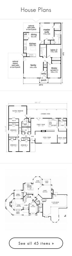 """""""House Plans"""" by painterella ❤ liked on Polyvore featuring fillers, house plans, text, floor plans, plans, blueprints, backgrounds, drawings, doodle and scribble"""