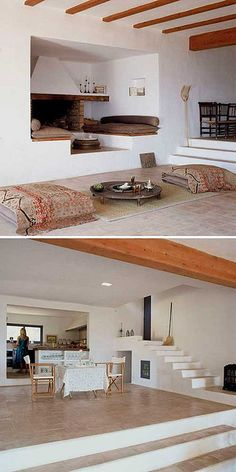 Beautiful fireplace nook -  house on formentera by the style files, via Flickr