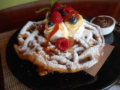 The Ritz-Carlton, Rancho Mirage is home to State Fare Bar + Kitchen Restaurant which puts the fun of 'fair' into dining. The Funnel Cake, topped with seasonal berries and creme fraiche.