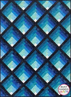 Waterfall Quilt Pattern PDF Two Color Ombre Gradating   Etsy Layer Cake Quilt Patterns, Layer Cake Quilts, Patchwork Quilt Patterns, Modern Quilt Patterns, Quilt Patterns Free, Print Patterns, Patchwork Bags, Block Patterns, Sewing Patterns