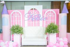 Window Lounge from a Royal Princess Birthday Party on Kara's Party Ideas | KarasPartyIdeas.com (18) 1st Birthday Party For Girls, 1st Birthday Party Themes, Disney Birthday, Birthday Party Decorations, Royal Princess Birthday, Princess Party, Party Hacks, Party Ideas, Pink Lila