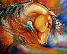 Lindo caballo d guerra indio
