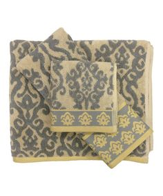 Another great find on #zulily! Luminary Jacquard Towel Set #zulilyfinds
