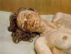 "lucian freud ""girl with closed eyes"" 1987 #art"