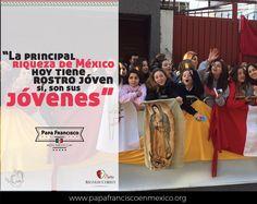 """""""La principal riqueza de México hoy tiene rostro joven. Sí, son suus jóvenes"""" #PapaFrancisco #RegnumChristi #PapaEnMex"""