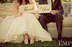 Wedding thank you idea