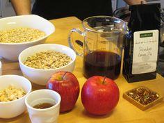 Momento de rodaje del tutorial: Desayuno en familia: Granola Casera con Rooibos Lemon Pie