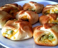 Avocado, Chicken and Cheese #Crescent_Rolls.  Click For Recipe... after eating these, I told Robert we were going to open a restaurant. he said what kind, what will we make? I said these, and I'll figure out the rest later.. lol not too hard to make, and most likely will be mastered by the second or third time if you are a beginner like me