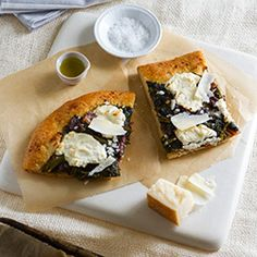 Sauteed Broccoli Rabe, Caramelized Balsamic Onion, and Ricotta Flatbread