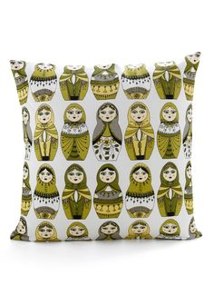 Aww, this pillow is so cute!  I LOVE nesting dolls... I had a pretty substantial Polish nesting doll collection as a kid :]