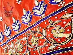 Bollywood, Indie, Orange Blouse, Indian Wear, Indian Fashion, Saree, Embroidery, Jewelry, Needlepoint