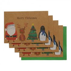 Chloe characters Christmas cards - pack of 10
