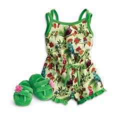 American Girl Rainforest Dreams Pajamas for 18-inch Dolls