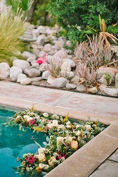 wedding pool party decoration 17