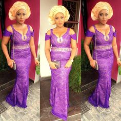 Latest Aso Ebi Style For Wedding Guests http://www.dezangozone.com/2016/02/latest-aso-ebi-style-for-wedding-guests.html