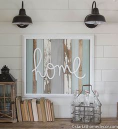6 Crazy Ideas: Simple Home Decor Country boho home decor interior design.Natural Home Decor Boho Chic home decor art how to make.Americana Country Home Decor. Diy Home Decor Rustic, Country Farmhouse Decor, Unique Home Decor, Home Decor Items, Cheap Home Decor, Farmhouse Design, Barn Wood Decor, Barn Wood Crafts, Homemade Home Decor